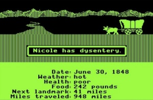 Screen Shot of the original Oregon Trail